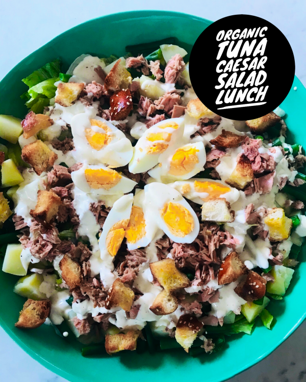 Tuna caeser salad